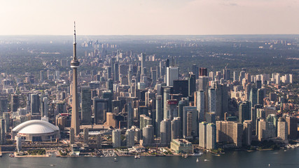 Wall Murals Toronto Aerial View of Toronto City Waterfront and Skyline