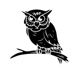 Owl Vector Silhouette