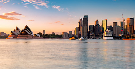 Self adhesive Wall Murals Sydney Sydney skyline during sunrise, New South Wales Australia