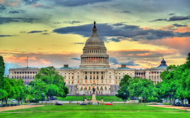 The United States Capitol Building in Washington, DC Fototapete