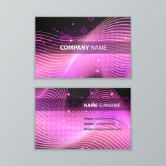 Dark modern business card design template
