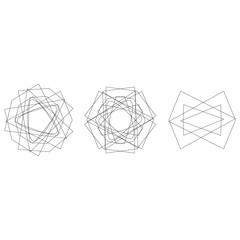 Symbol pattern icon star astrology set pentagram