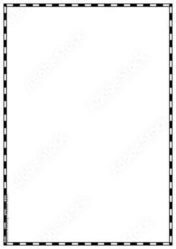 u0026quot vector page border a4 design for project u0026quot  stock image and