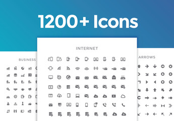 1200 Line Art Icon Set 1