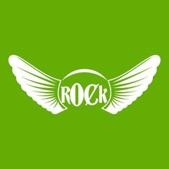 Rock icon green