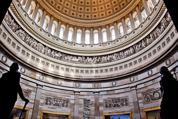 US Capitol Dome Rotunda Statues DC Wall mural