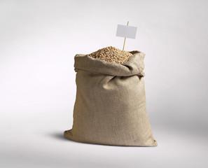 Sack with grain