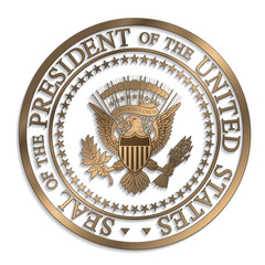 Presidential Seal - Gold against White AI