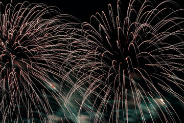 Bright flowing like a magic fountain of fireworks. Beautiful modern background for all bright occasions.