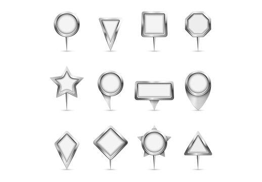 12 Multi-Shape Map Pin Icons 1