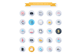 25 Round Tech, Business, and Productivity Icons 3