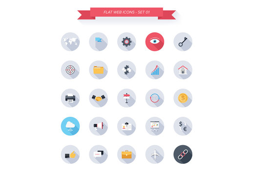 25 Round Tech, Business, and Productivity Icons 2