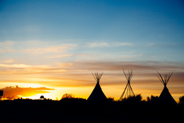 New Mexico TeePee Sunset