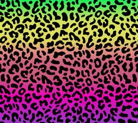 Seamless gradient leopard pattern