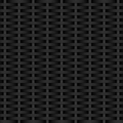 Dark gray background. Weaving black rods. Dark texture. Vector Image.