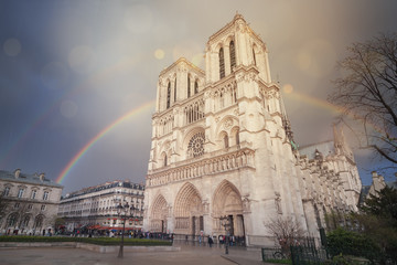 Double rainbow over Notre-Dame