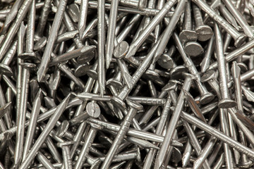 Many steel nails