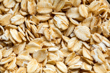 Oatmeal flakes high definition pattern