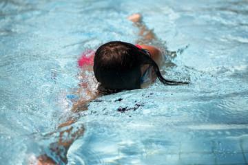 Girl swiming