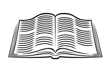 Open text Book Clipart