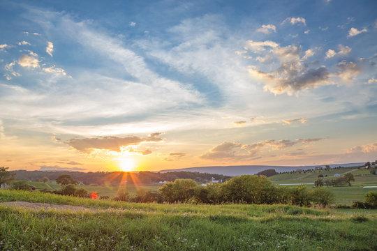 Central Pennsylvania August Sunset