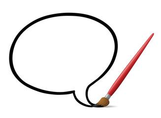 Paintbrush Speech Bubble