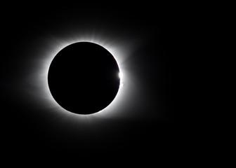 Corona around total solar eclipse