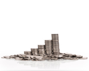 stack of coins which grows success