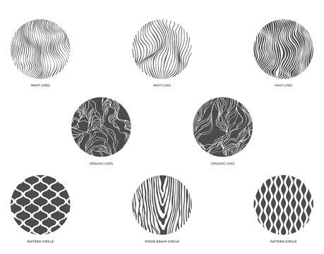 Circle Lines and Pattern