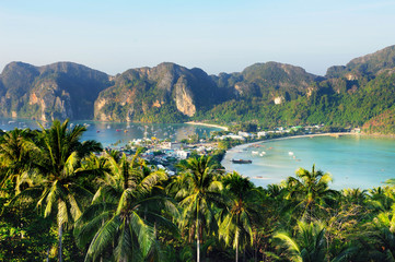 View of a beautiful Phuket bay in the morning, Thailand.