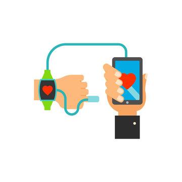 Tracking health icon