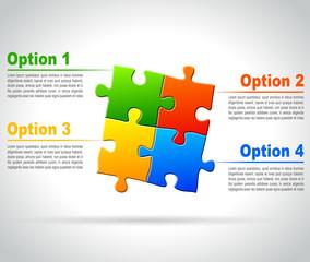 infographic options concept puzzle