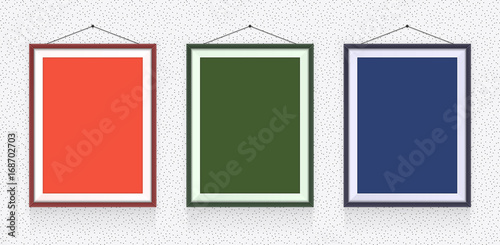 Different Types Of Photo Frames On The Wall Background Template