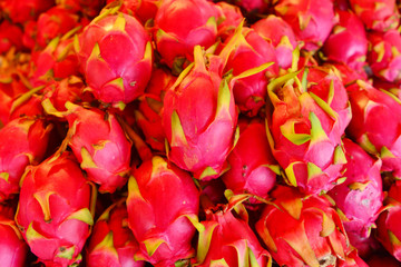 Pitaya or pitahaya or Dragon fruit in supermarket