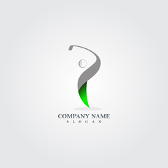 Abstract Golf logo