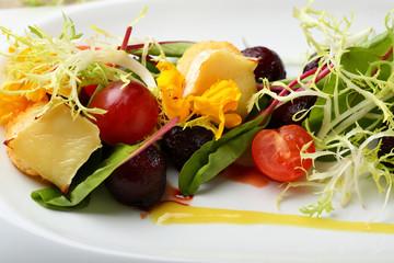 Beetroot and cheese bri salad