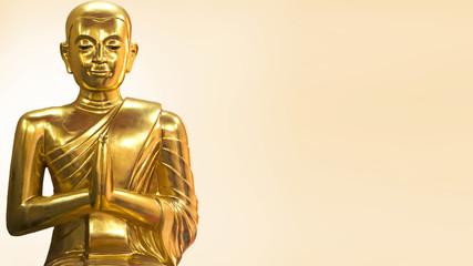 Golden monk statue