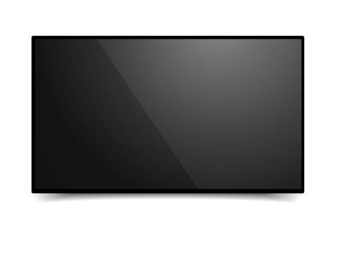 Black TV Mockup