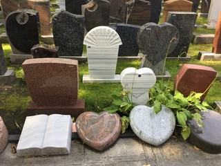 Printed roller blinds Cemetery Gravestones in cemetery