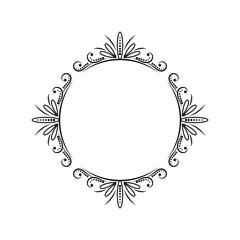 Vintage round classic contour frame
