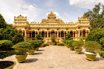 Vinh Tranh Pagoda in My Tho, the Mekong Delta, Vietnam