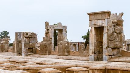 Apadana of Xerxes in the ancient city of Persepolis, Iran. UNESCO World heritage site