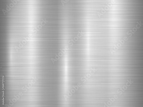 Fototapete Metal horizontal abstract technology background with polished, brushed texture, chrome, silver, steel, aluminum for design concepts, web, prints, posters, wallpapers, interfaces. Vector illustration.
