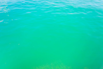 Green sea surface,waving water surface of the sea background.