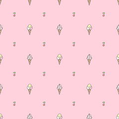 vector seamless pattern. Sweets concept. 042