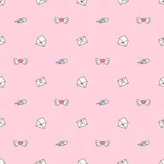 vector seamless pattern. Cute cartoone concept. 008