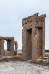 Ancient city of Persepolis, Iran. Apadana of Xerxes. UNESCO World heritage site