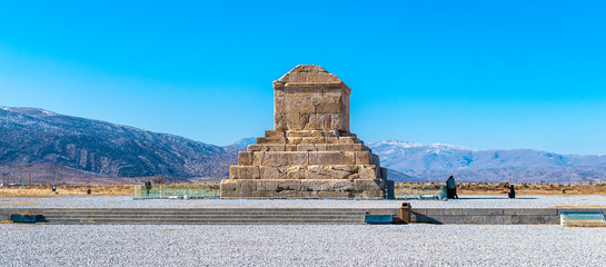 Tomb of Cyrus the Great, the burial place of Cyrus the Great of Persia.  Pasargadae, UNESCO World Heritage Site.