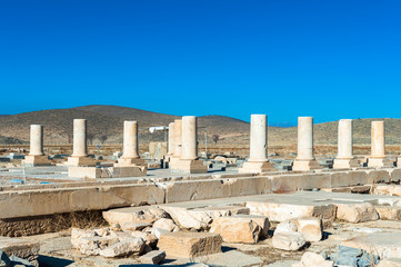 The Audience Hall of the Pasargadae Palace. Ancient Persian city of Pasargad, Iran. UNESCO World Heritage
