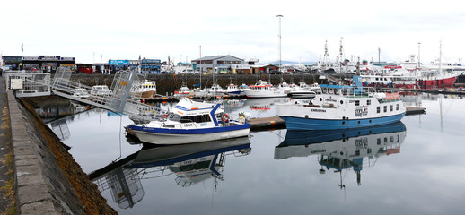 A view of the harbour in Reykjavik